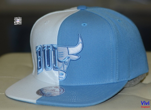 Mitchell & Ness Chicago Bulls Split Snapback W/Blue