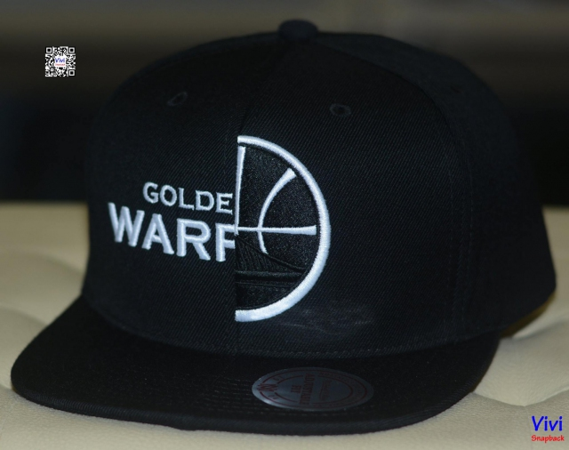 Mitchell & Ness Warriors Split Snapback Black