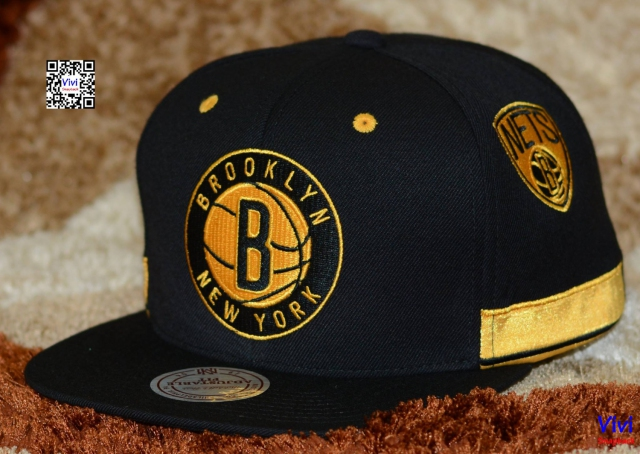 Mitchell And Ness Brooklyn Nets NBA Standard Logo Game Day Snapback Y
