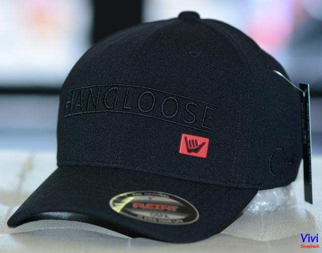 Nón HangLoose Flexfit Full Black Cap