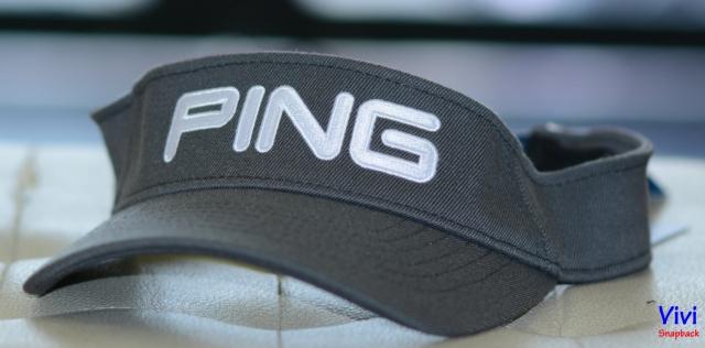 Nón Ping Sensor Coll Sport Visor 110 Golf Cap Grey/White
