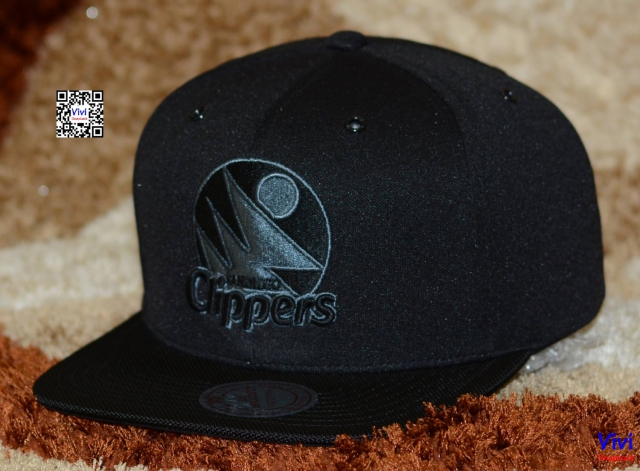 Mitchell & Ness Clippers Logo Snapback Black