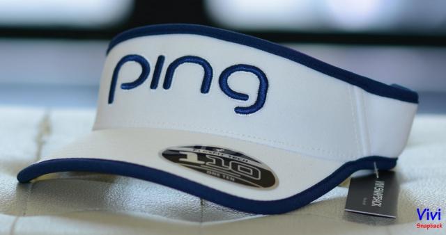 Nón Ping Ladies Tour Visor 110 Golf Cap White/Navy
