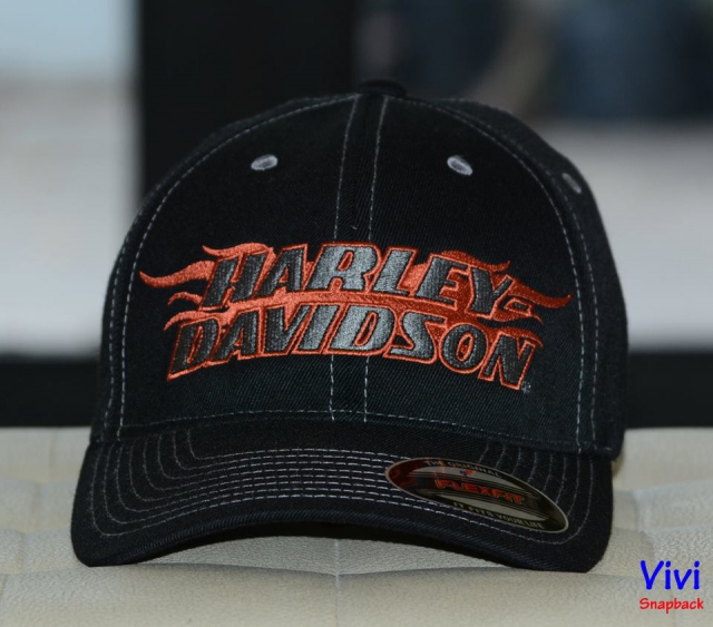 Harley Davidson Men's Flames H-D Fitted Cap