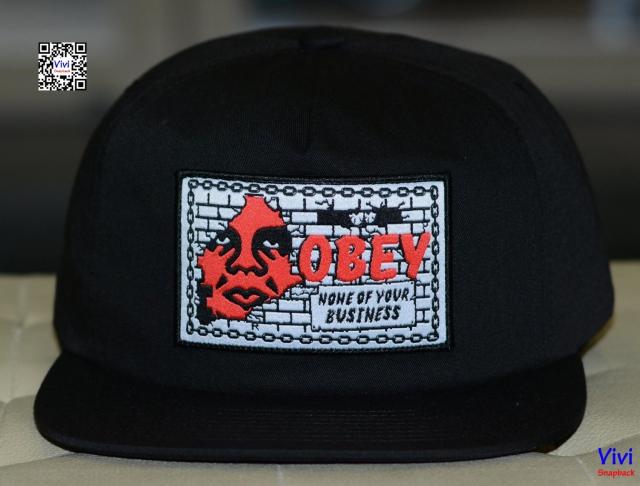 Obey Snapback Black