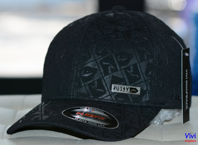 Nón Pít Đuôi Rusty Flexfit Cap All Black