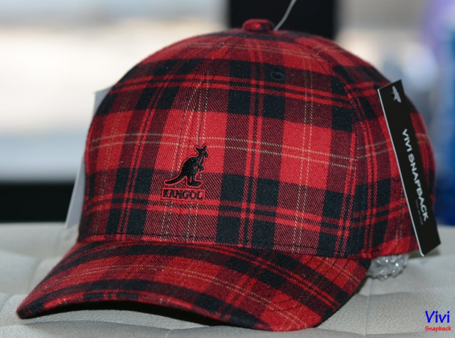 Nón big size Kangol Plaid Flexfit Baseball Cap Red Tazan