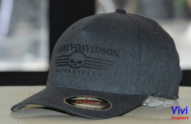 Harley Davidson Men's Silicone Skull Fitted Cap
