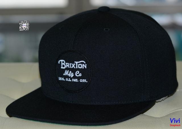 Brixton Wheeler Black Snapback