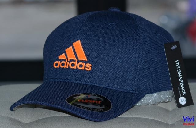 Nón bít đuôi The Flexfit Adidas Logo Navy Cap