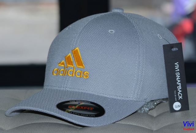 Nón bít đuôi The Flexfit Adidas Logo Grey Cap