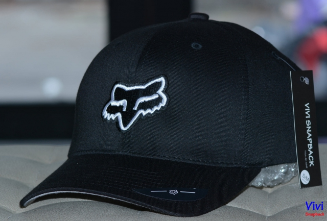 Nón lưỡi trai The Flexfit Fox Racing Legacy Cap Black/Whithe
