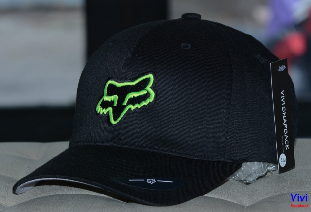 Nón bít đuôi The Flexfit Fox Racing Legacy Cap Black/Green Neon