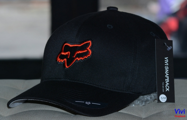 Mũ bít đuôi The Flexfit Fox Racing Legacy Cap Black/Red