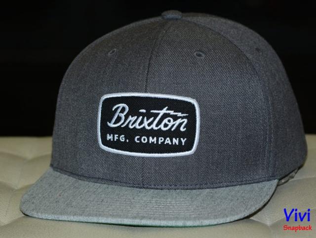 Brixton Jolt Dark Gray/ Gray Snapback - Freesize - Giá 300k