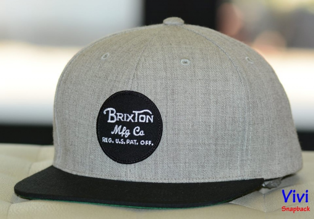 Brixton Wheeler Maroon Grey/Black Snapback