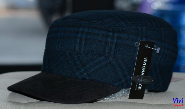 Nón ngắn Kangol Plaid Army Cap
