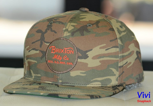 Brixton Camo Wheeler Maroon Snapback