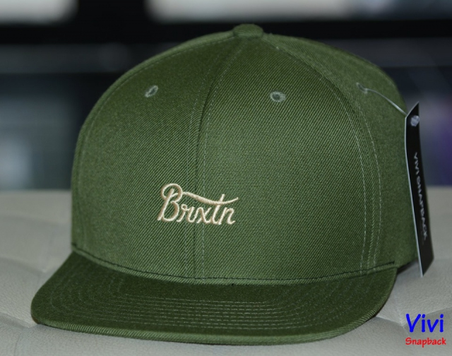 Brixton Camo Dark Green Snapback