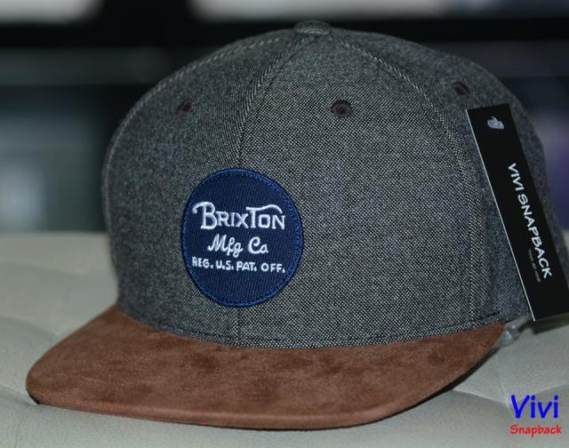 Brixton Wheeler Maroon Snapback