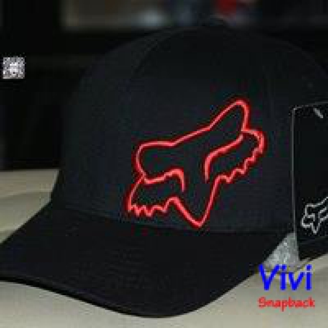 Fox Racing Flex 45 Flexfit Black Cap