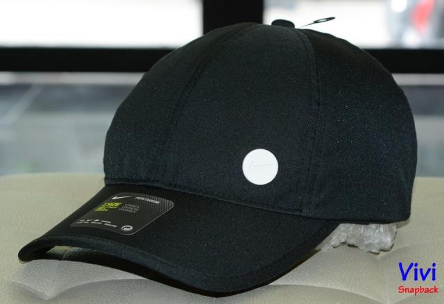 Nón Nike Heritage 86 Cap White Circle Logo/ Black