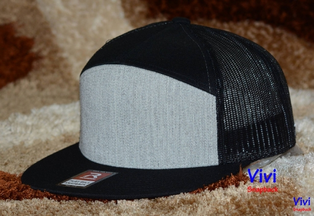 Richardson Panel Arch Flat Bill Trucker Snapback