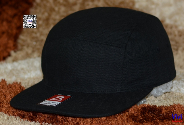 Richardson Panel Full Black Snapback