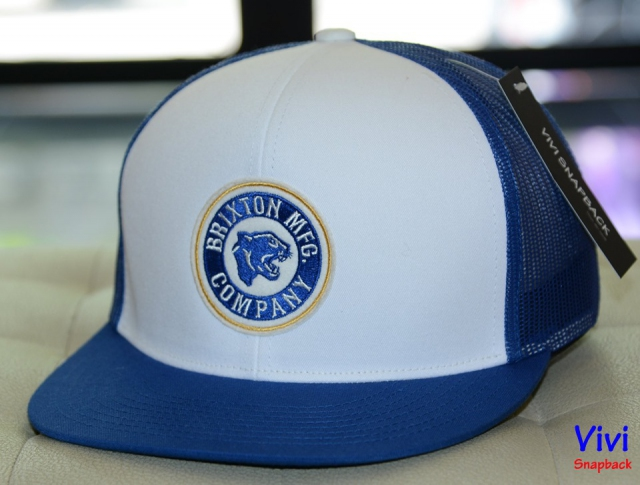 Brixton Forte MP Trucker Snapback Blue/White