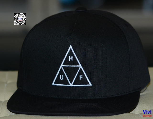 Huf  Triple Triagle Snapback Black