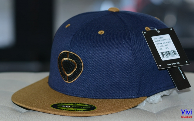 Nón snapback bít đuôi - C1rca The Iconic 210 Fitted Snapback Navy 2Tone