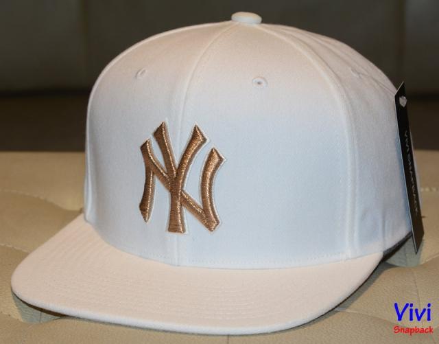 NY _ MLB White Snapback