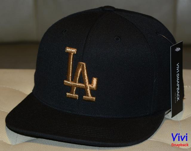 LA _ MLB Black Snapback