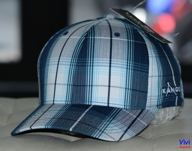 Nón Kangol Quadrant Plaid Flexfit Baseall Fitted Cap Navy
