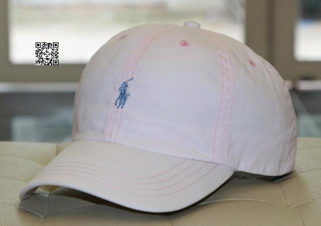 Nón Polo - màu hồng phấn nhạt