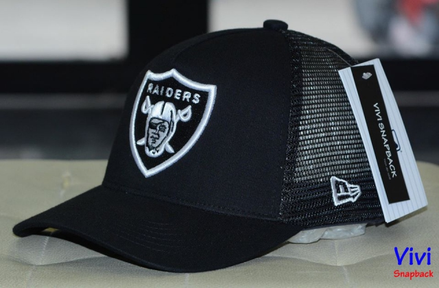 Raiders Trucker Black Cap