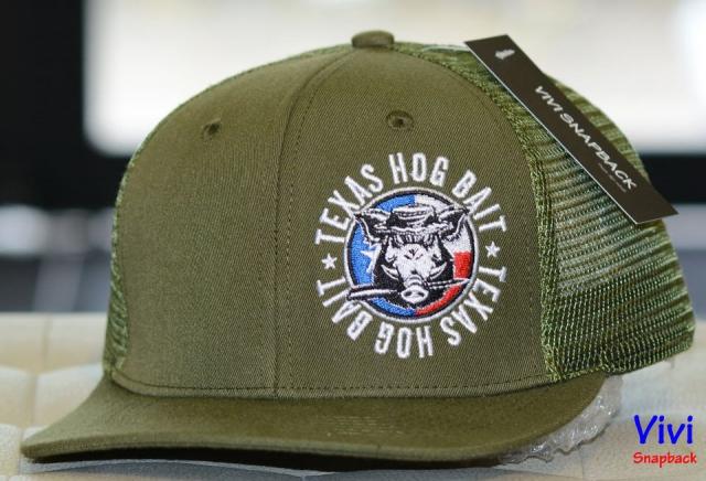 Snapback lưới Texas Hog Bait Military Green - Màu rêu đậm