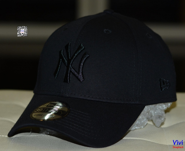 Nón NY New Era Fitted Full Black
