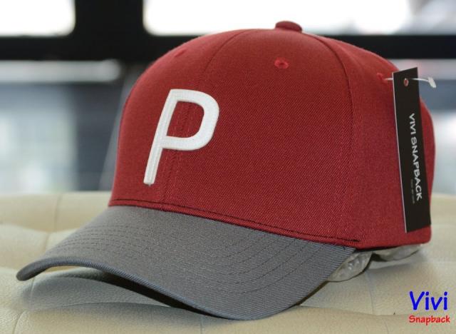Puma Throwback P Cap Grey/Red