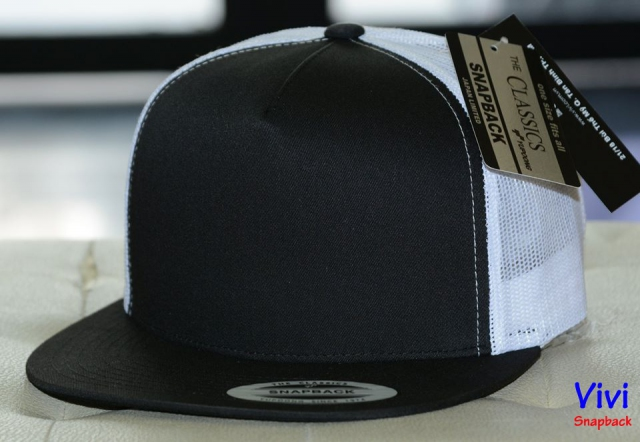 The Classic Yupoong 5 Panel Trucker 2Tone Snapback