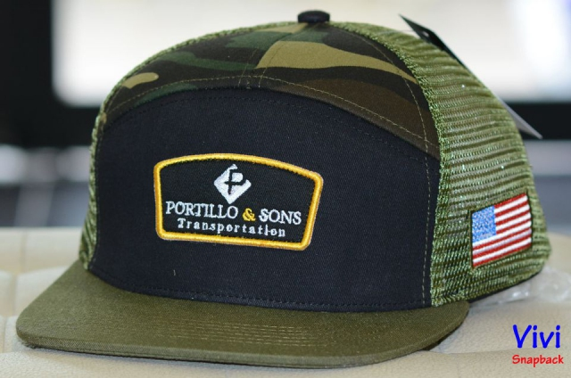 Snapback Camo 7 Panel with Patch