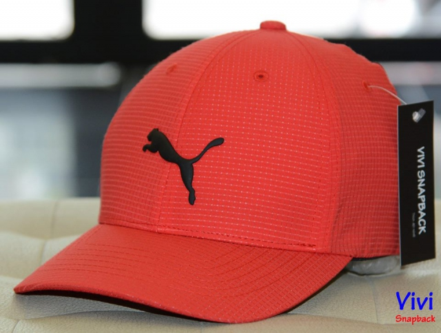 Puma Cubic Fitted Cap Red