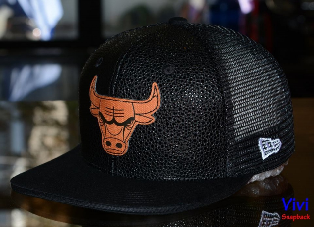 Chicago Bulls Trucker Snapback Black