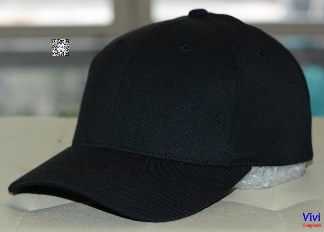 Nón kết NBA Full Black Fitted