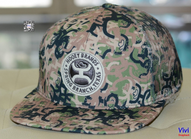 "Hooey Brand ""Ziggy 2"" Camo With Circle Felt Patch Trucker Snapback"
