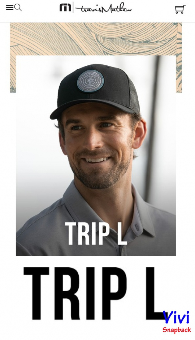 Travis Mathew Trip L Trucker Cap Black