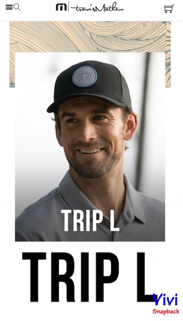 Travis Mathew Trip L Trucker Cap Black