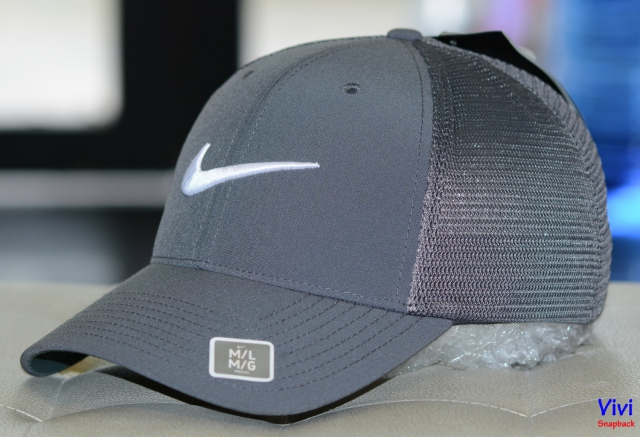 Nike Golf Hats Legacy 91 Tour Mesh Baseball Gray Cap