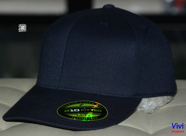 The Premium 210 Flexfit Fitted Navy Cap