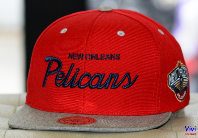 Mitchell & Ness New Orleans Pilicans NBA Heather Special Script Snapback